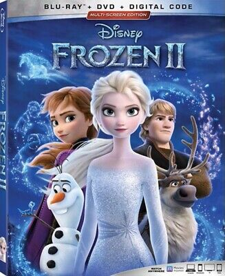 Frozen 2 Blu-ray + DVD + Slipcover *New* *Free SHIP* *SHIPS TODAY*