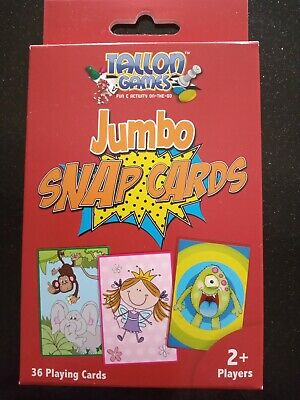 Children Kids Games Fun Puzzle Learning Family Playing Cards Jumbo Snap Cards