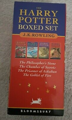 Harry Potter Boxed Set: Four Volumes by J. K. Rowling (Paperback, 2001)