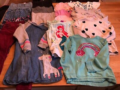 Huge Girls Kids Clothing Bundle Age 4-5 Years Next, H&M, Unicorn, Little Pony