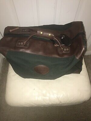 Large Orvis Battenkill Duffle Bag Leather Trim 22 Inches