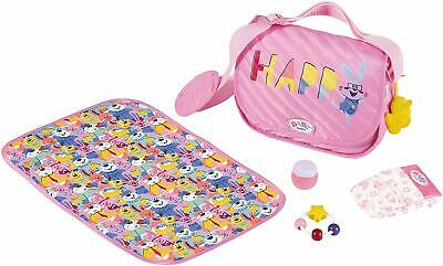 Baby Born Baby Doll Changing Bag & Mat 5 Piece Toy Playset For Dolls Carry Bag
