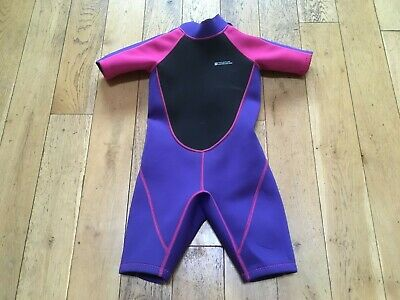 girls wetsuit, age 7-8, pink and purple, mountain warehouse