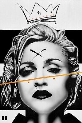 A1 - A5 SIZES AVAILABLE MADONNA BLACK AND WHITE GLOSSY WALL ART POSTER PRINT