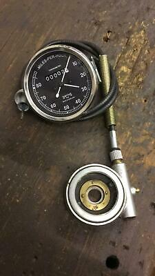 Reproduction Smiths 0-80 mph Motorcycle Speedo with Cable etc.