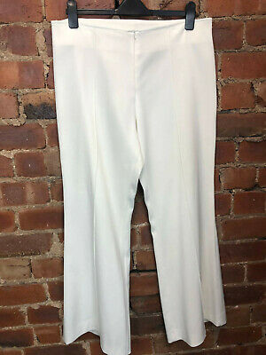 Todays Woman Cream Wide Leg Trousers Size 16 Summer Holiday Occasion Tailoring
