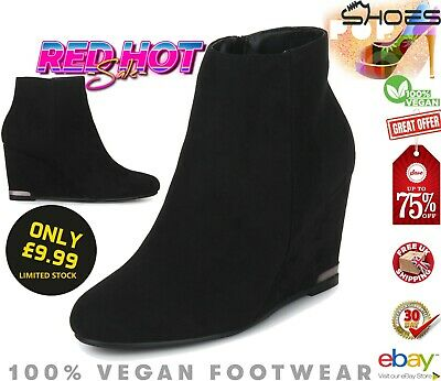 ⭐⭐⭐⭐⭐ Womens Ankle Boots, Ladies Wedges Heels Booties Wedge Shoes Shoe Boot Size