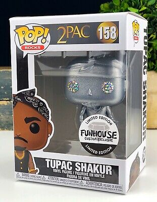 Funko Pop Rocks #158 Silver Metallic 2pac Tupac Shakur Funhouse Custom Exclusive