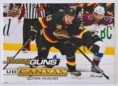 2019-20 Upper Deck Hockey Series 2 UD CANVAS YOUNG GUNS C211 QUINN HUGHES