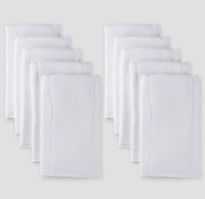 Gerber Baby Organic Cotton 10pk Prefold Gauze Diaper with Absorbent Pad, White