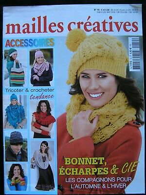 Accessoires 'Mailles Creatives' 48 Page Booklet Of Knitting & Crochet Patterns;