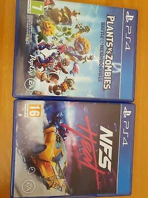 PS4 game PLANTS VS ZOMBIES battle for Neighbourville and NFS HEAT
