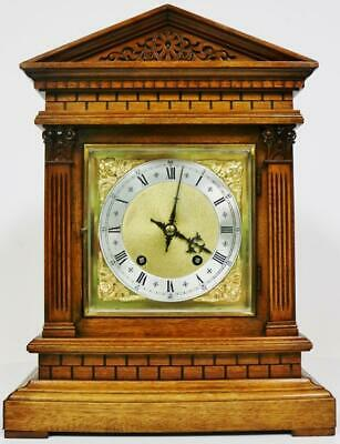 Antique W&H 1/4 Striking Bracket Clock Brick Faced 8 Day Ting Tang Mantel Clock