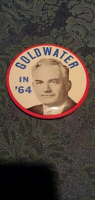 "Large 3.5"" Diameter 1964 Barry Goldwater Pin"