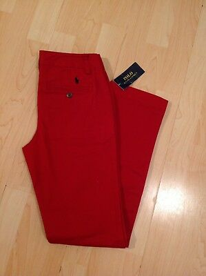 Polo Ralph Lauren Boy's Red Chinos Trouser For 12 Years BNWT