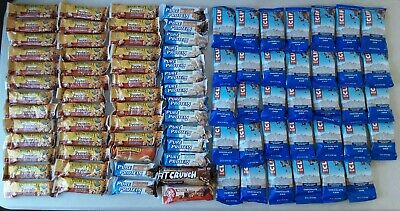 Mixed Lot Of 87 Protein Energy Bars, Nature Valley, Pure Protein, Clif Bar