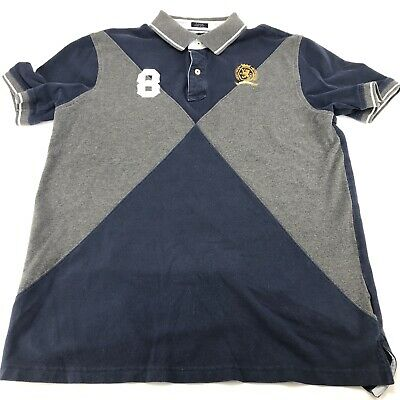 Tommy Hilfiger Polo Rugby Shirt MCMLXXXV Mens Size XL Custom Fit Short Sleeve