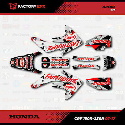 Honda CRF150R Checkered Flag graphics kit 2007-2015 Graphic MX