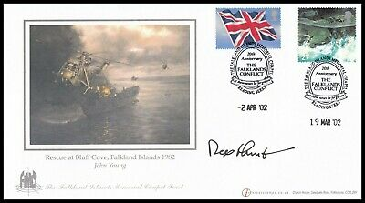 Falkland Islands Governor SIR REX HUNT Signed Falklands War Anniversary Cover