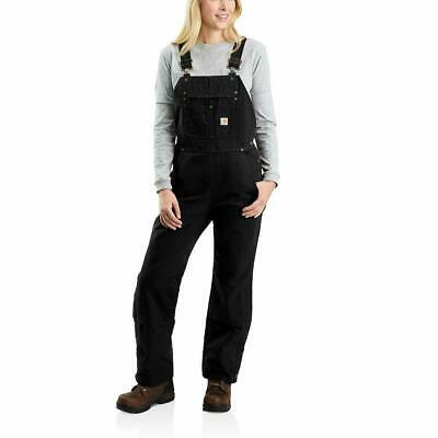 Carhartt Women's Quilt Lined Washed Duck Bib Overall - Choose SZ/Color