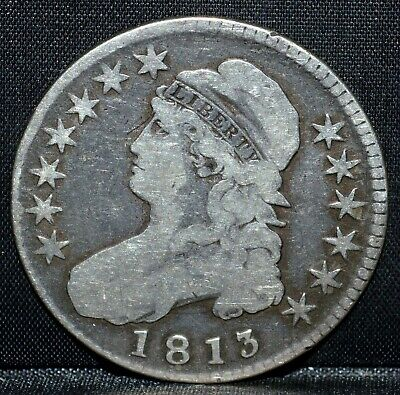 1813 Capped Bust Half ✪ G Good ✪ 50C Silver L@@K Now ◢Trusted◣