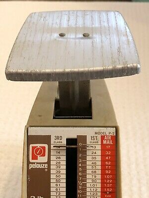 Pelouze Parcel Scale Model P-2 2lbs Weight Shipping Vintage