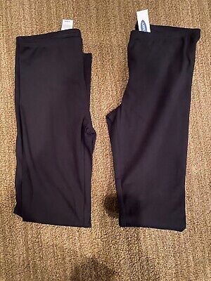 NWT Lot of 2 Girls Old Navy Black Leggings, Size XL (14)