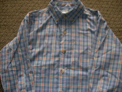 Boys Blue/Brown/Red Checked Long Sleeved Shirt 3 Years Adams