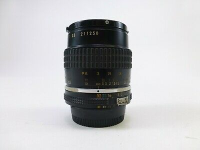 Nikon Micro-Nikkor 55mm F/2.8 AIS Lens with Lens Caps and in Excellent Condition