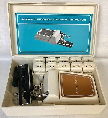 Vintage Kenmore Sewing Machine Buttonhole Attachments W/Templets & Instructions