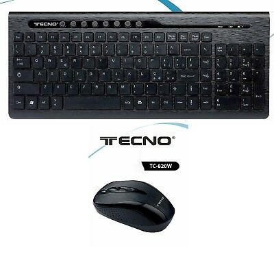 Tastiera Multimediale e Mouse Wireless pc per Computer senza fili Keyboard kit