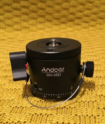 Andoer DH-55D HDR Panorama Panoramic Ball Head with Indexing Rotator G4B9 Tripod