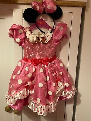 DISNEY STORE SIZE 2 MINNIE MOUSE FANCY DRESS Up GIRLS + Gloves