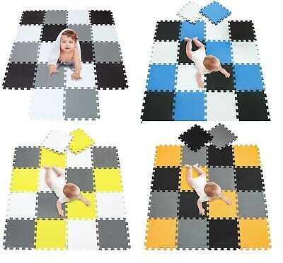 30Pcs Eva Foam Mat Soft Floor Tiles Interlocking Play Kids Baby Mats Gym 31X31cm