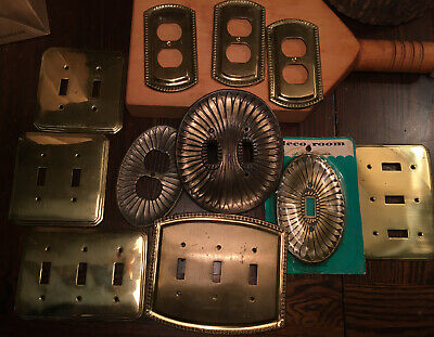 11 Vintage Gold Brass Metal Outlet Cover Light Switch Plate