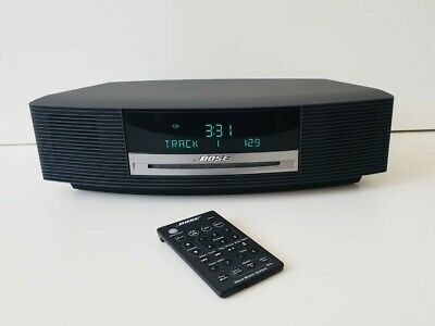 Bose Wave Music System CD Radio / Alarm /AUX - Graphite Grey + Remote Control