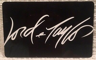 Lord & Taylor White on Black Signature Logo 2015 Gift Card Collectible