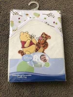 Disney Baby Embroidered Reversible Cuddle Rug