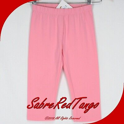 Nwt Hanna Andersson Classic Fit Bright Basics Capri Leggings Rose Pink 150 12