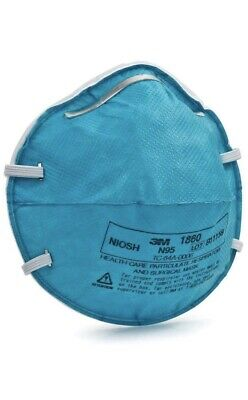 **Fda Approved***3M 1860 N95 Particulate Respirator & Surgical Pack Of 5 Pcs