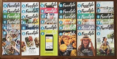 36 WEIGHT WATCHERS Freestyle Weekly Guide Books 12/31/17 - 09/16/18 With Recipes