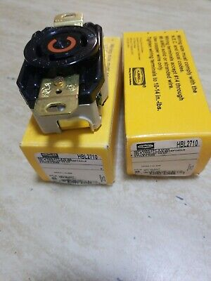 (2)Hubbell HBL2710 Twist-Lock Receptacle  30A 125-250V 3-Pole 4-Wire !