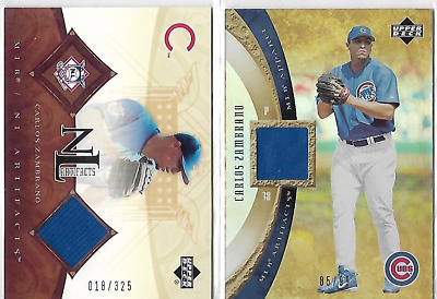 2005 Upper Deck MLB Artifacts Carlos Zambrano Game Used Jersey Lot Apparel #/99