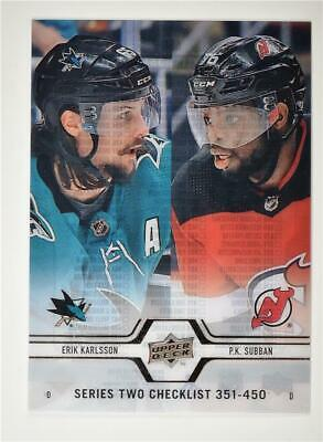 2019-20 Series 2 Clear Cut #450 Erik Karlsson/P.K. Subban CL