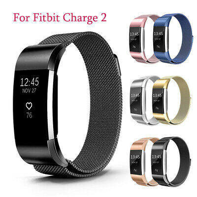 For Fitbit Charge 2 Band Metal Stainless Steel Milanese Loop Wristband Strap S L
