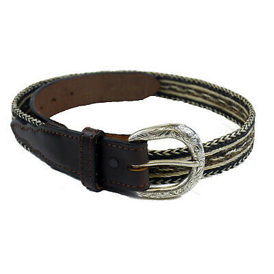 Waterfront Leather Belt Men's Flechtanteil Braun 90 cm (Previously
