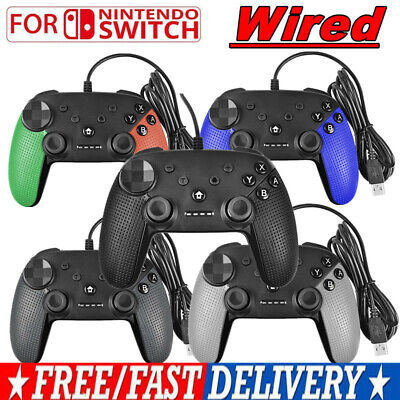 1/2 Wired Pro Controller USB Gamepad Joypad Joystick For Nintendo Switch Console