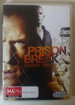 PRISON BREAK SEASON 3 dvd REGION 4 drama COMPLETE THIRD SERIES wentworth miller