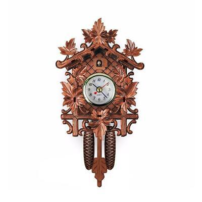 Antique Mini Cuckoo Clock Vintage Forest Quartz Swing Wall Art Decor Alarm R3M2