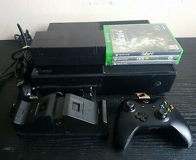 Microsoft Xbox One 500GB Console Controller 3 Games Charger Dock Tested Working